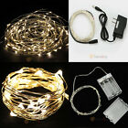 New Warm White/Pure White 2M/3M/10M LED Copper Wire LED String Fairy Lights Lamp