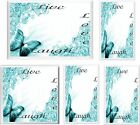 TURQUOISE BUTTERFLY LIVE LAUGH LOVE LIGHT SWITCH COVER PLATE  U PICK PLATE SIZE