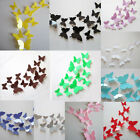 12Pcs Creative 3D Butterfly Beauty Art Decal Room Wedding Mural Stickers Decor