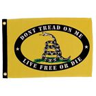 "DON'T TREAD ON ME LIVE FREE OR DIE 12X18"" BOAT FLAG DOUBLE SIDED NEW SMALL"