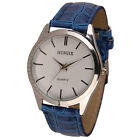 Womens Mens Wathes Leather Quartz Analog Dress Bracelet Business Wrist Watch New