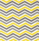 YELLOW AND GRAY CHEVRON ZIG ZAG PRINT #2   COASTERS SETS U PICK SET SIZE