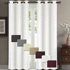 Willow Jacquard Blackout Thermal Insulated Window Curtain Panels 84 x 84