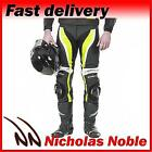RST Tractech Evo II 1444 Flo Green Leather CE Armoured Sports Trousers