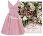 BRIDGET Dusky Pink Satin Bridesmaid Wedding Knee Length Dress UK Sizes 6 -18