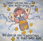 Heaven Watches Over Us ANGEL Country Stars Clouds Fabric Quilt Block Panel