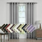 One Single Abri Grommet Crushed Sheer Curtain Kitchen Bedroom Living Room Panels