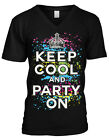 Keep Cool And Party On Turn Up Crunk 2016 New Year  Mens V-neck T-shirt