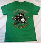 Pittsburgh Pirates Steelers Penguins 3 team logo t shirt Saint Patty day