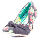 Irregular Choice Dazzle Pants Womens Fabric Black Multicolour Heels New Shoes