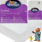 Silentnight Quilted Mattress Protector Fitted Cover Hygienic Bed Bedding Sheet