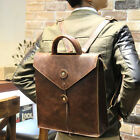 Men's Leather Casual Backpack Envelope Bag Briefcase Handbag Business Rucksack
