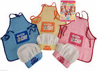 CHILDRENS CHEF HAT APRON COOKING BAKING KIDS CHEFS JUNIOR YELLOW PINK BLUE K