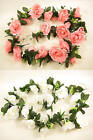 Wedding Artificial Silk Flowers Large Rose Garland with Rose Buds and Leaves