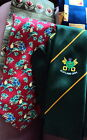 BEAUTIFUL TIED 4 INCH GIFT TIES, SILK, RUGBY, CENTENAIRE CHOICE OF 1
