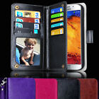 Samsung Galaxy Note5 Case Magnet Leather Wallet Cover Card Slots
