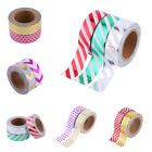 New Style Metallic Gold Washi Tape Scrapbooking Craft DIY Paper Adhesive Sticker