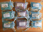 Aromatherapy essential oil bath salts in organza pouch gifts parties