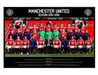 Manchester Utd FC Gloss Black Framed Team Photo 2015/16 MUFC Poster 91.5x61cm