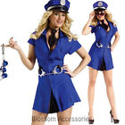 CL784 Ladies Cuff'd Up Police Offider Sexy Uniform Cops Blue Fancy Dress Costume