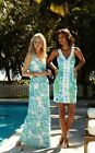 New Lilly Pulitzer TRUDY DRESS 8 10 Go Go Green Northeast Hahbah LOBSTERS Pique