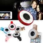 Portable Mini Selfie LED Fill Flash Light Camera Lamp Clip Lens For iPhone LG