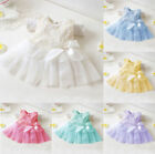 Infant Baby Girl Toddler Pageant Party Tutu Lace Bow Flower Princess Dress 0-24M