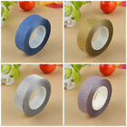 Fine 10M Glitter Washi Sticky Paper Masking Adhesive Tape Label DIY Craft Decor