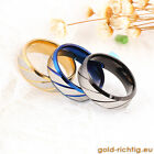 Frosted Ice - Ring Partnerringe Damen Damenring Herrenring schwarz blau gold NEU