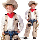 CK637 Lil Sheriff Cowboy Western Wild West Toddler Boys Fancy Dress Up Costume