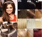 "22""-36"" 140g Straight Remy Human Hair Attached Clips In Extensions Fashion"