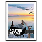 7 x 12 Custom Poster Picture Frame 7x12 - Select Profile, Color, Lens, Backing