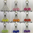 Handmade Wire Wrapped Faceted Bead Zipper Pull Charms ~ Wallet Jacket Backpack