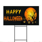 Happy Halloween Pumpkins Scary Corrugated Plastic Yard Sign /FREE Stakes $24.99 USD on eBay