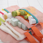 BD 4pcs Set Travel Toiletry Mesh Pouch Luggage Clothes Storage Bags Organiser