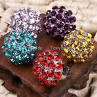 Crystal Glass Mushroom Cocktail Party Adjustable Finger Ring Women Jewelry Gift
