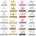 5PCs Rhinestone Metal Rondelle Spacer Beads for DIY Jewelry Making
