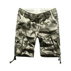 MENS FOXJEANS ELTON CAUSAL CAMO MILITARY MEN'S ARMY CARGO WORK SHORTS SIZE 38