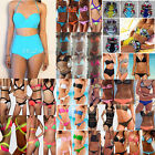 Womens Sexy High Waisted Bandage Bikini Bra Set Swimwear Swimsuit Plus Size 6-16