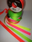 Berisfords Grosgrain Ribbon - NEON FLUORESCENT HI-VIZ - 4 Shades - 6mm to 40mm