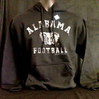 University of Alabama Black Alabama Football Hoodie with White Writing