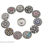 5PCs Snap Buttons Pattern Carved Fit Snap Bracelets M2241