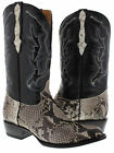 Mens Real Python Snake Skin Genuine Leather Cowboy Boots Rodeo Western Belly