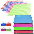 LARGE FOLDING BEACH MAT SINGLE DOUBLE PICNIC MAT RUG SUN LOUNGER TRAVEL BLANKET