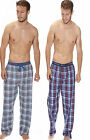 Mens Checked Pyjama Lounge Pants Bottoms Trousers Nightwear Pjs Sizes S-XL