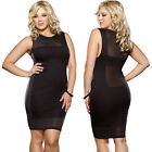 Plus Size One Size 1X/2X or 3X/4X Black Dress w/ Beaded Neckline DG9374X
