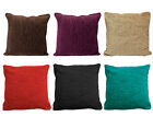 "Plain Luxury Chenille Cushions Super Soft Scatter Cushion Covers - 17"" X 17"""