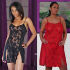 Plus Size Lingerie Size 1X 2X or 3X Black or Red Chemise Style Babydoll 5589X