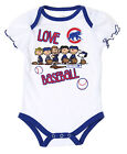 MLB Infants Chicago Cubs Peanuts Love Baseball Creeper, White on Ebay