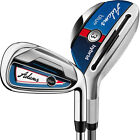 Adams Golf Blue Combo Hybrid Iron Set (#3h-#4h, 5-PW), Graphite Shafts